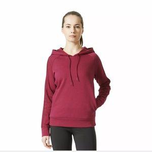 Adidas Essential Fleece 3 Stripe Hoodie